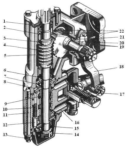 Схема ГУР К-701 (распределитель с редуктором) 700А.14.22.000-1