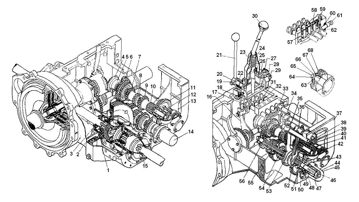 Устройство и работа коробки передач кпп трактора т-16 | мелагроком.