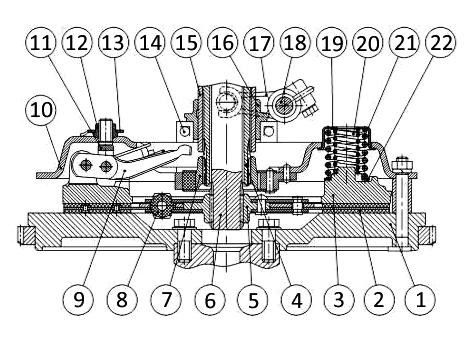 Устройство корзины сцепления на трактор МТЗ-80 (Д-240)
