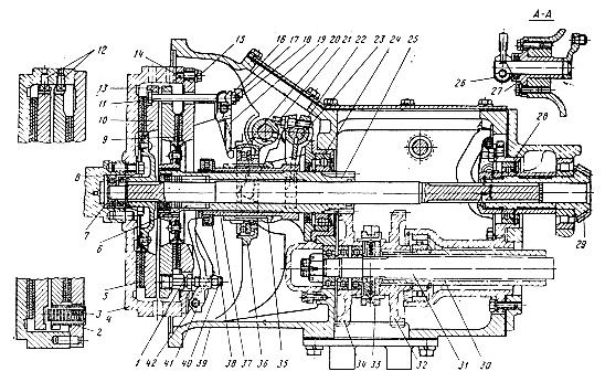 Устройство муфты сцепления (корзина) Т-40, Д-144 (Т25-1601050-Б1)