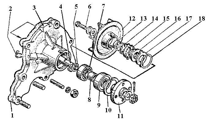 Насос водяний (помпа) ГАЗ-53 (53-1307010-Б)