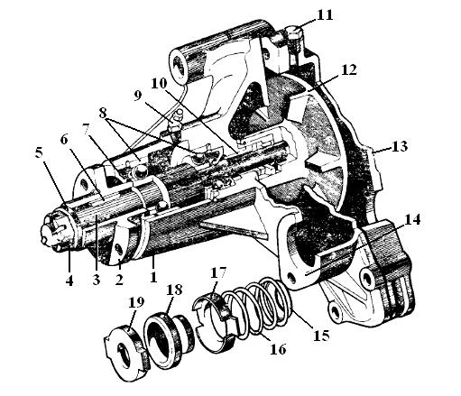 Насос водяной (помпа) СМД-18 (18Н-13С2) с штуцером под печку